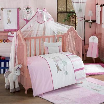 Купить Постельный сет 6 предметов KidBoo Little Farmer (pink), розовый, 120 х 60 см, Постельные сеты