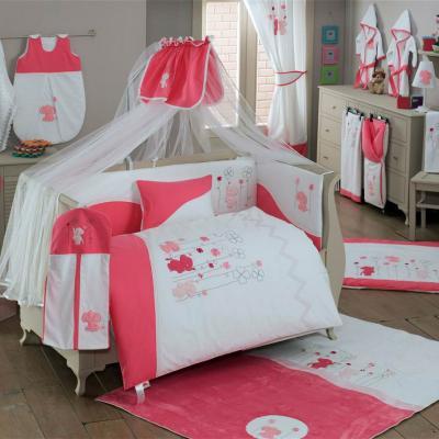 Постельный сет 6 предметов KidBoo Elephant (pink) постельный сет 6 предметов kidboo lovely birds pink
