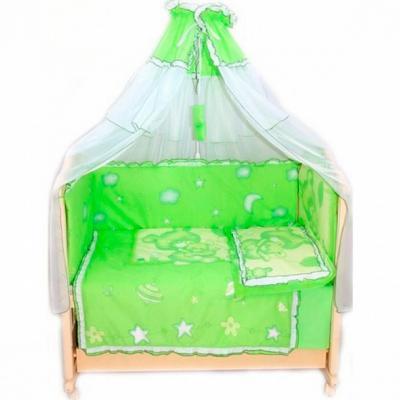 Постельный сет 7 предметов Bombus Топтышка (зеленый)