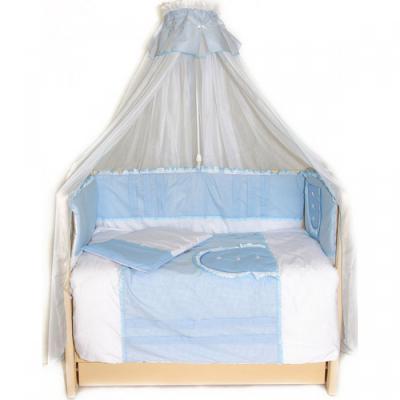 Постельный сет 7 предметов Bombus Кроха (голубой) постельный сет 7 предметов bombus кроха голубой