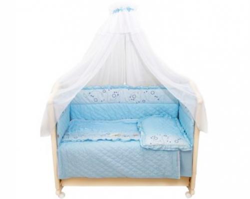 Постельный сет 6 предметов Bombus Соня (голубой) постельный сет 7 предметов bombus кроха голубой