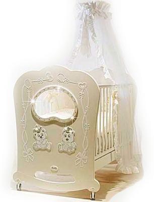 Купить Постельный сет 5 предметов Feretti Majesty (avorio), слоновая кость, 60 х 120 см, Постельные сеты