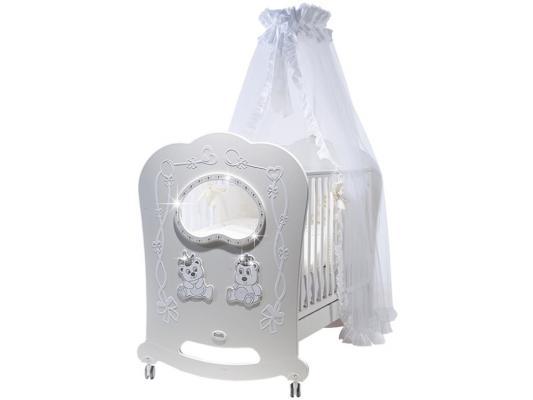 Постельный сет 5 предметов Feretti Majesty (bianco) детские кроватки feretti majesty brillante oblo качалка