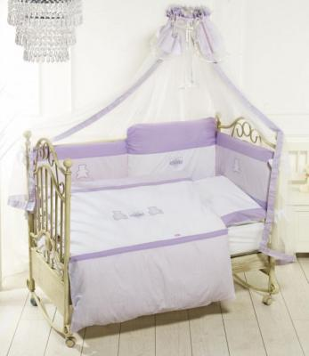 Постельный сет 6 предметов Feretti Orsetti (long/violet-white)