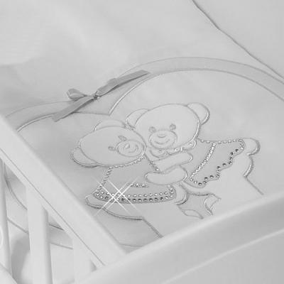 Купить Набор в люльку для близнецов Feretti Baby Beddings Culla Gemell (bianco), белый, н/д, Сменное постельное белье
