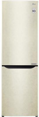 Холодильник LG GA-B429SECZ бежевый холодильник lg ga b429seqz двухкамерный бежевый