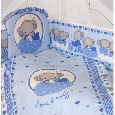 Комплект постельного белья Золотой Гусь Слоник Боня (голубой)