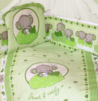 Комплект постельного белья Золотой Гусь Слоник Боня (зеленый) золотой гусь слоник боня бежевый