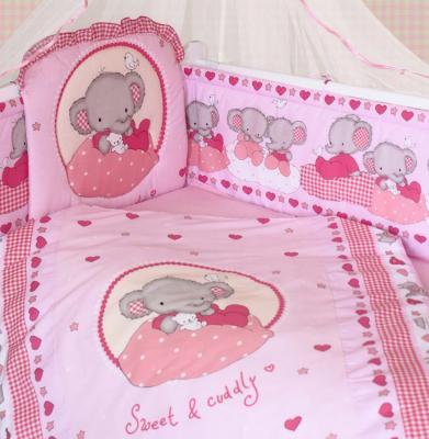 Комплект постельного белья Золотой Гусь Слоник Боня (розовый) золотой гусь слоник боня бежевый
