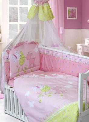 золотой гусь little friend 120х60 7 предметов Комплект постельного белья Золотой Гусь Little Friend (розовый)