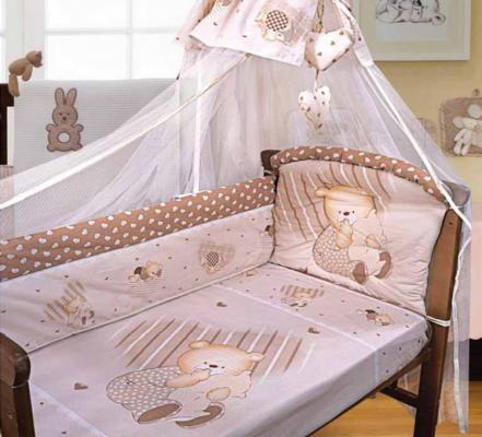 Постельный сет 7 предметов Золотой Гусь Мишутка (бежевый) комплект в кроватку золотой гусь мишка царь бежевый