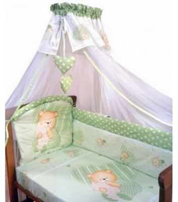 Постельный сет 7 предметов Золотой Гусь Мишутка (зеленый) постельный сет 7 предметов золотой гусь сладкий сон зеленый