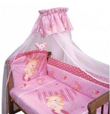 Постельный сет 7 предметов Золотой Гусь Мишутка (розовый) постельный сет 7 предметов золотой гусь сладкий сон зеленый