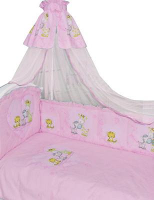 Постельный сет 7 предметов Золотой Гусь Сафари (розовый) постельный сет 7 предметов золотой гусь мишутка розовый