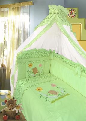 Постельный сет 7 предметов Золотой Гусь Сладкий сон (зеленый) постельный сет 7 предметов золотой гусь сладкий сон зеленый
