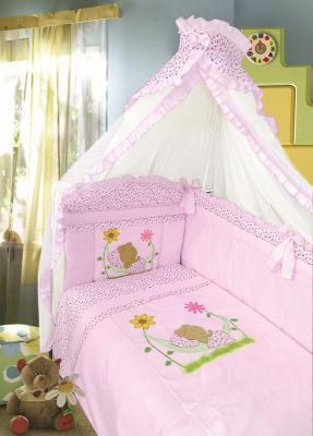 Постельный сет 7 предметов Золотой Гусь Сладкий сон (розовый) постельный сет 7 предметов золотой гусь сладкий сон розовый