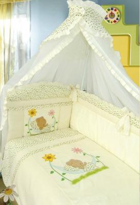 Постельный сет 7 предметов Золотой Гусь Сладкий сон (бежевый) постельный сет 7 предметов золотой гусь сладкий сон розовый