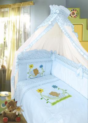 Постельный сет 7 предметов Золотой Гусь Сладкий сон (голубой) постельный сет 7 предметов золотой гусь сладкий сон зеленый