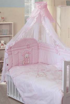 Постельный сет 7 предметов Золотой Гусь Сабина (розовый) постельный сет 7 предметов золотой гусь сладкий сон розовый
