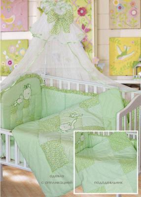 Комплект в кроватку Золотой Гусь Кошки-Мышки (зеленый) комплект в кроватку золотой гусь мишка царь бежевый