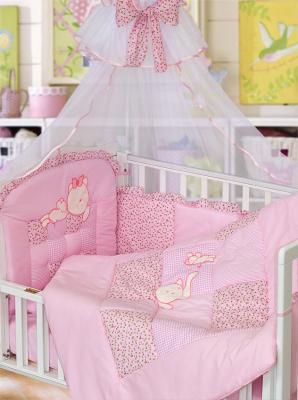 Комплект в кроватку Золотой Гусь Кошки-Мышки (розовый) цена и фото