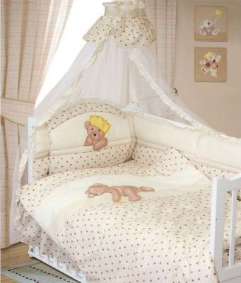 Комплект в кроватку Золотой Гусь Мишка-Царь (бежевый) комплект в кроватку золотой гусь мишка царь 8 предметов розовый 1086