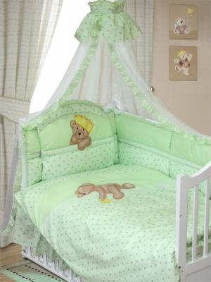 Комплект в кроватку Золотой Гусь Мишка-Царь (зеленый) комплект в кроватку золотой гусь мишка царь бежевый