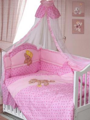 Комплект в кроватку Золотой Гусь Мишка-Царь (розовый)