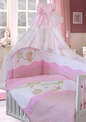 Постельный сет 7 предметов Золотой Гусь Улыбка (розовый) постельный сет 7 предметов золотой гусь мишутка розовый