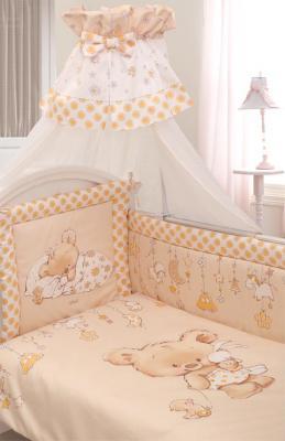 Постельный сет 7 предметов Золотой Гусь Mika (сатин/молочный) постельное белье золотой гусь mika 3 предмета
