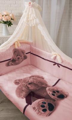 Постельный сет 7 предметов Золотой Гусь Я Спрятался (розовый) постельный сет 7 предметов золотой гусь сладкий сон розовый