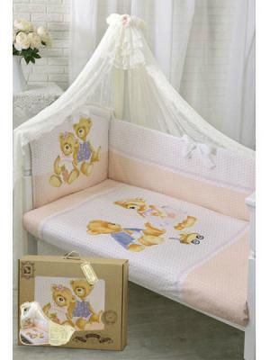 Купить Постельный сет 7 предметов Золотой Гусь Sweety Bear (молочный), 120 х 60 см, Постельные сеты