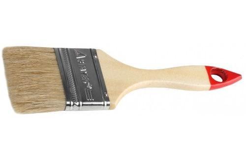 Кисть плоская Stayer UNIVERSAL-STANDARD натуральная щетина деревянная ручка 100мм 0101-100 кисть радиаторная universal master нат щетина 50мм stayer 0110 50 z01