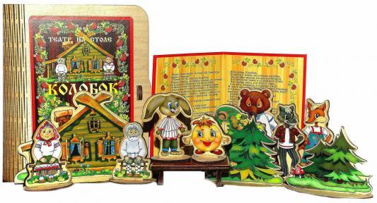 Театр на столе Бэмби Колобок 11 предметов 7737 кукольный театр бэмби курочка ряба 8 предметов к 0543 6