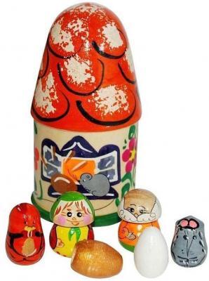 Пальчиковый театр в домике Русские народные игрушки Курочка ряба Р-45/776 кукольный театр курочка ряба
