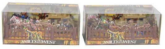 """Игровой набор Shantou Gepai """"Вестерн, индейцы, ковбои, аксессуары"""" 635454 набор солдатиков sunjade ковбои и индейцы 5 см"""