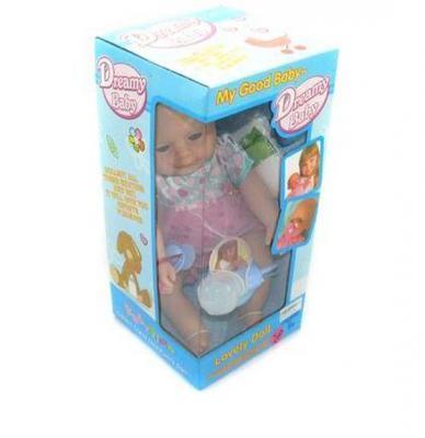 Кукла-младенец Shantou Gepai 37 см писающая пьющая  801-9