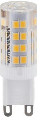 Лампа светодиодная G9 5W 3300K кукуруза прозрачная 4690389085666 elektrostandard лампа светодиодная elektrostandard свеча на ветру сdw led d 6w 3300k e14 4690389085505