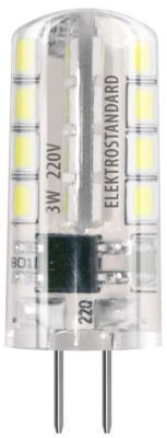 Лампа светодиодная G4 3W 3300K кукуруза прозрачная 4690389063060 от 123.ru