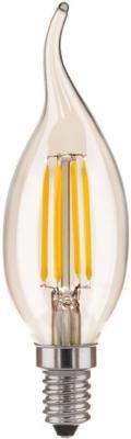 Лампа светодиодная E14 5W 3300K свеча на ветру прозрачная 4690389085901 от 123.ru