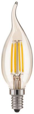 Лампа светодиодная E14 5W 4200K свеча на ветру прозрачная 4690389085918 от 123.ru