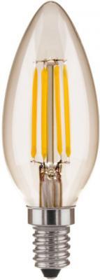 Лампа светодиодная Е14 5W 3300K свеча прозрачная 4690389085888 от 123.ru