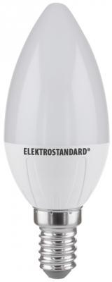 Лампа светодиодная E14 6W 4200K свеча матовая 4690389081521 elektrostandard лампа светодиодная elektrostandard свеча на ветру сdw led d 6w 3300k e14 4690389085505