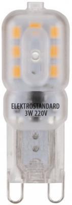 Лампа светодиодная G9 3W 3300K колба матовая 4690389085642 elektrostandard лампа светодиодная elektrostandard свеча на ветру сdw led d 6w 3300k e14 4690389085505