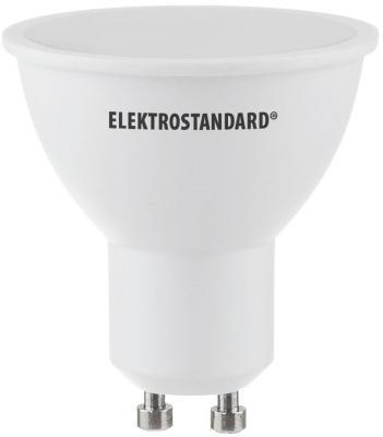 Лампа светодиодная GU10 5W 3300K полусфера матовая 4690389087660 elektrostandard лампа светодиодная elektrostandard свеча на ветру сdw led d 6w 3300k e14 4690389085505