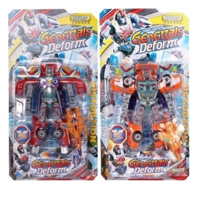 Робот-бластер Shantou Gepai Трансформер с мягкими пулями оранжевый SB202