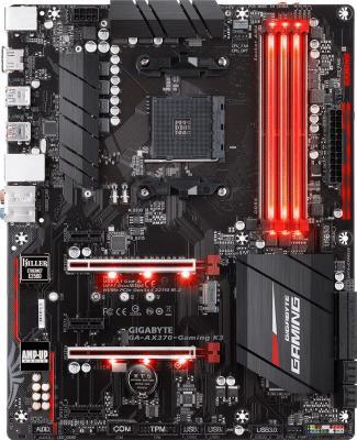 Мат. плата для ПК GigaByte GA-AX370-Gaming K3 Socket AM4 AMD X370 4xDDR4 2xPCI-E 16x 3xPCI-E 1x 8xSATAIII ATX Retail материнская плата gigabyte ga ax370 gaming k7