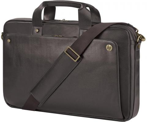 Сумка для ноутбука 17.3 HP Top Load искусственная кожа коричневый P6N24AA