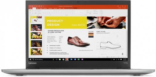 Ноутбук Lenovo ThinkPad T470s 14 1920x1080 Intel Core i5-7200U 20HF0017RT neworig keyboard bezel palmrest cover lenovo thinkpad t540p w54 touchpad without fingerprint 04x5544