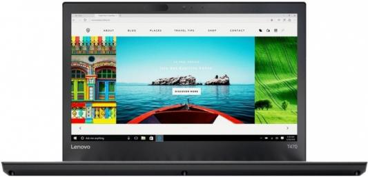 Ноутбук Lenovo ThinkPad T470 14 1920x1080 Intel Core i5-7200U 20HD005SRT ноутбук lenovo thinkpad l450 core i5 5200u 8gb ssd180gb intel hd graphics 5500 14 черный